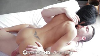 fantasyhd hd big-tits busty big-boobs honey-demon blowjob hardcore sex sexy porn cum-shot romanian raven shower-scene shaved