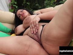 Big Tit Cuban Slut Angelina Castro Squirts and Blows!