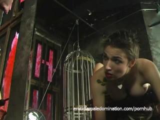 Foxy tattooed bimbo likes being spanked really hard by her dominatrix