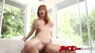 Redhead Lauren Phillips Drilled Seduced Her Black Gym Instructor