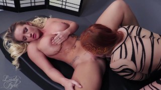 Cali Carter: Sexecutrix by Lady Fyre Femdom  laz fyre breath play lady fyre face sitting cali carter facesitting redhead femdom blonde fucking kink threesome big boobs executrix femme fatale ass smothering