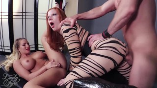 Cali Carter: Sexecutrix by Lady Fyre Femdom  laz fyre breath play face sitting cali carter facesitting redhead femdom blonde fucking kink threesome big boobs lady fyre executrix femme fatale ass smothering