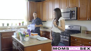 MomsTeachSex - Hot Step-Mom And Teen Get Messy Facial  big cock reverse cowgirl threeway mom momsteachsex cumshot small tits skinny caught facialized brunette petite mother deepthroat step mom eating pussy tiny teen