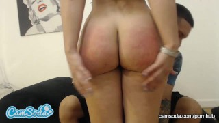 Preview 2 of big booty kelsi monroe fucks big dick in camsoda threesome cumshot facial