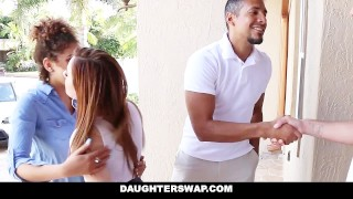 DaughterSwap - Slutty Teens Fucked For Taking Nudes  payton banks all natural big cock ebony black small tits karlie brooks interracial brunette shaved facial dads foursome daughterswap group daughters