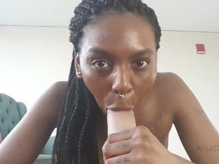 Girlfriend gives Blowjob with Dirty Talk - RealCock 2