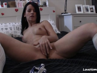 Panties go down and the pussy rubbing begins!