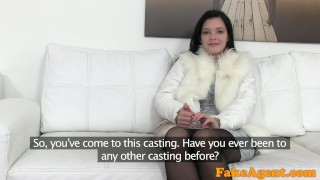 FakeAgent Fit skinny model seduced and fucked by agent  audition fakeagent homemade oral sex point of view couch amateur real black haired cumshot office sex anie darling pov reality casting interview