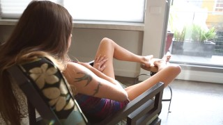Tattooed Lily Fingers Her Snatch