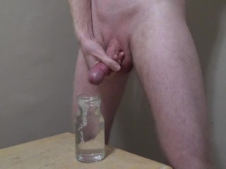 Cumming Hard Into A Jar Of Water -- JohnnyIzFine