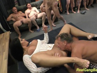 round ass milf ashley cum in real gangbang