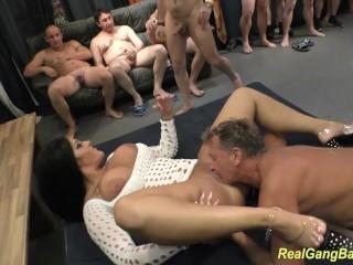 round ass milf ashley cum in real gangbang