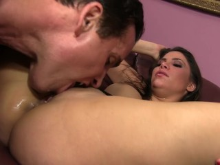 Lethal Hardcore –Busty Aleska Nicole gets her tight cunt stretched out