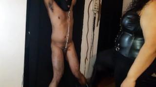 Ballbusting a helpless slut  kink ballbusting kick indian bondage indian femdom femdom ballbusting bbw femdom chubby