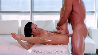 PureMature - Mature asian Kalina Ryu has amazing massage skills  bombshell old sexy asian mom blowjob skinny oiled hardcore puremature mature sex mother kalina rya cum inside shaved pussy hot milf
