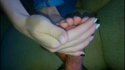 Would You Like To Enjoy Beautiful Soft Footjob? Cum On Toes