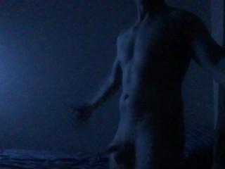 Goofing around naked