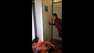 Accidental Creampie - 18yo Fucked for the First Time in a Dressing Room  cum in pussy accidental cum creampie outside first time public young 18 school brunette orgasm teenager changing room dress dressing room accidental creampie