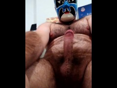 9 huge squirting cumshots after long edge in a mask