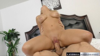 Katy gets a taste of an American Creampie  big-cock creampie big-tits booty mom missionary milf hardcore natural-tits lethalhardcore shaved tight mother orgasm facial doggystyle