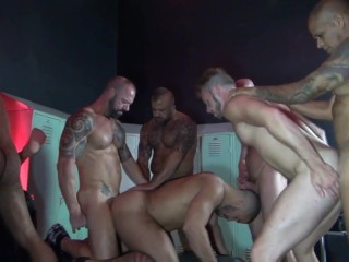 raw orgy in a sex club