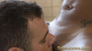 Dane Jones Amazing blowjob and hot tub fuck with pretty young ebony girl  babe cock-sucking shaved-pussy ebony black blowjob cunnilingus bathroom interracial danejones hot-tub romantic small-tits orgasm