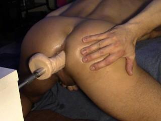 fuck machine gives my ass a workout