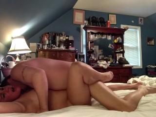 Couple having romantic sensual sex...