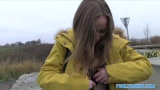 Public Agent Innocent Babe Paid for Sex lady-bug publicagent amateur blonde riding real camcorder shaved cumshot outdoors public outside pov cowgirl reality trimmed