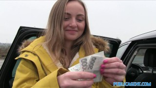 Public Agent Innocent Babe Paid for Sex  outdoors outside point-of-view sex-in-car sex-for-cash amateur cumshot public pov real camcorder sex-for-money reality lady bug publicagent sex-with-stranger