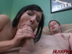 First timer Ashli gets schooled with a huge cock!