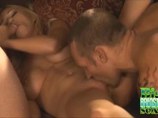 Big Titty Hillary Scott 3some Action