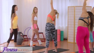 Fitness Rooms Hot yoga teachers strap on fuck tiny teen  gym babes gym-sex from-behind oral-sex lesbians fitness sweaty young yoga-pants lycra workout czech teacher teenager keep fit adult toys tutor