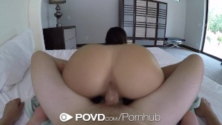 POVD - Gorgeous Leah Gotti fucked and facialed after shower  leah gotti point of view big tits big cock babe hd blowjob pornstar pov busty shower hardcore cock sucking brunette povd natural tits