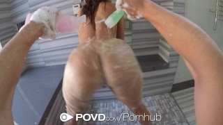 POVD - Gorgeous Leah Gotti fucked and facialed after shower  babe big-cock big-tits cock-sucking hd point-of-view blowjob pornstar pov busty shower hardcore leah-gotti natural-tits brunette povd