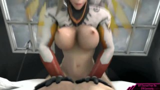 Booty Shaking Video Game SFM  sfm video game porn naughty gaming video game hentai overwatch mercy naughtygaming overwatch anime