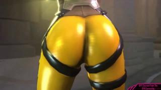 Booty Shaking Video Game SFM  sfm video game porn naughty gaming video game hentai overwatch mercy naughtygaming overwatch anime