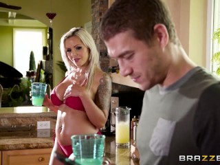 Brazzers - Nina Elle gets oiled up and ready