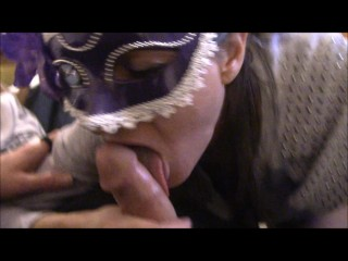 Sexy Blowjob by masked women
