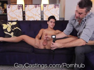 GayCastings - Gay Casting Agent Pounds Aaron Perez