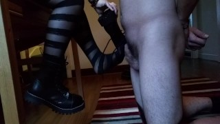 kink steels steel boots shoes tights pantyhose punk cbt ballbusting