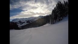 Teen Public Flash in Snowboard