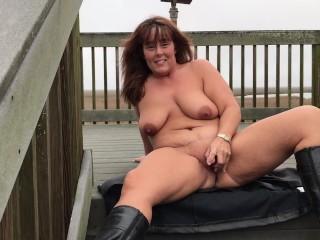 First outdoor masturbation in boots - JJ