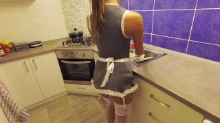 Maid my day  Hot-Maid-Gets-Fucked sexy-costume maid french-maid pov missionary european uniform sexy-french-maid washing-dishes real-maid-amateur sweet-pussy-fuck kitchen-sex sexy-maid-pov fuck-me-hard amazing-body-amateur