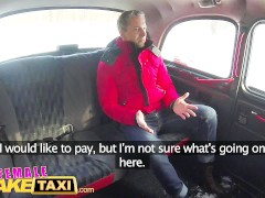 Female Fake Taxi Sexy driver sucks and fucks fare to get even