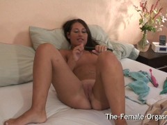 Shy Teen Masturbates her Fanny to Multiple Wet Pussy Pulsing Orgasms