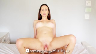 Passion-HD - Brunette Ashley Adams stuffs her pussy with play toy before fu