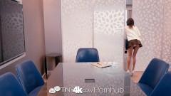 tiny4k - brunette secretary janice griffith fucks her boss