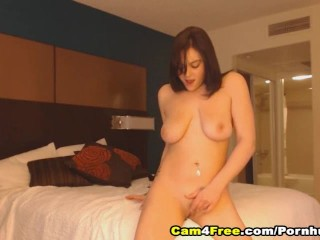 Hot Babe With Big Tits Finger Fucks Her Pussy