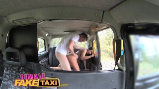 Female Fake Taxi Guy gets lucky with hot brunette  taxi british oral blowjob amateur hot huge-cock public camera spycam car brunette reality butt dogging femalefaketaxi
